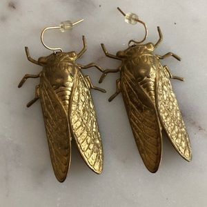 Erica Weiner/ModCloth Brass Magicicada Earrings